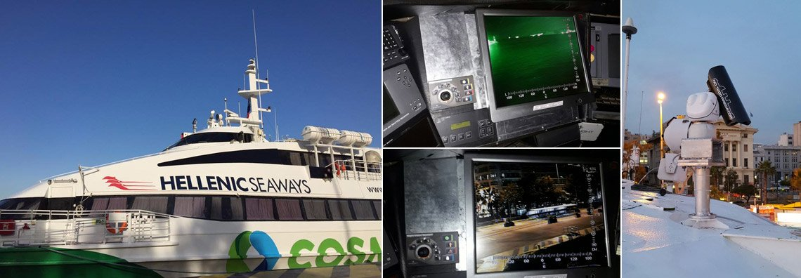 ND 1200 Night Vision System on FLYING CAT 5 of Hellenic Seaways in Piraeus Port